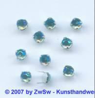 Strass/Splintfassung 1 Stück 4mm (aquamarine/AB)