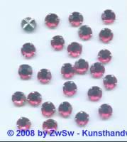 Strass/gef. 1 Stück 7mm (pink)