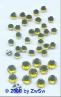 Strass/gef. 1 Stück 5mm (zitronengelb)