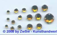 Strass/gef. 1 Stück 3mm (dunkeltopas)
