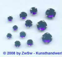 Strass/gef. 1 Stück 3mm (dunkelblau)