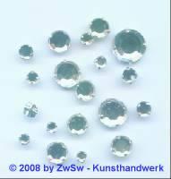 Strass/gef. 1 Stück 3mm (kristall)