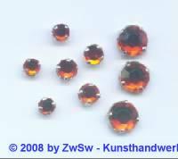 Strass/gef. 1 Stück 4mm (orange)