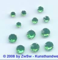 Strass/gef. 1 Stück 4mm (grün)