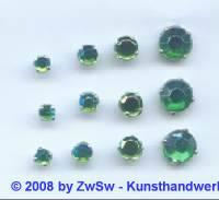 Strass/gef. 1 Stück 3mm (smaragd/AB)