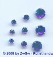 Strass/gef. 1 Stück 3mm (dunkelblau/AB)