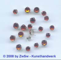 Strass/Splintfassung 1 Stück 4mm (orange)