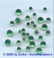 Strass/Splintfassung 1 Stück 4mm (grün)