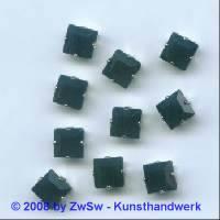 Schmuckstein gefasst schwarz 1 Stück 8mm x 8mm