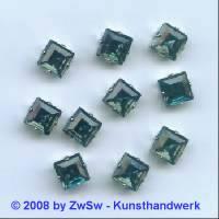Schmuckstein gefasst blackdiamond 1 Stück 8mm x 8mm