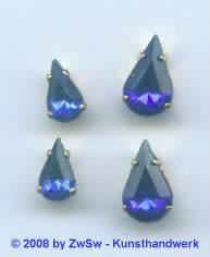 1 Schmuckstein gef. blau 10mm x 6mm gold