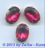 1 Schmuckstein gef. pink 18mm x 13mm gold