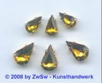 1 Schmuckstein gef. topas 10mm x 6mm gold
