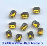 1 Schmuckstein gef. topas 8mm x 6mm gold