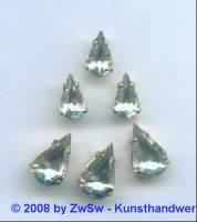 1 Schmuckstein gef. kristall 13mm x 8mm gold