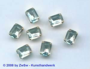1 Schmuckstein gef. kristall 8mm x 6mm gold