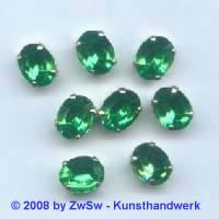 1 Schmuckstein gef. grün 10mm x 8mm silber