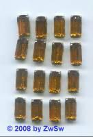 1 Schmuckstein gef. topas, 10mm x 5mm, silber