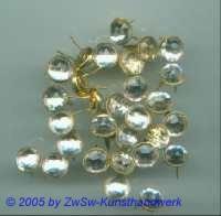 Strass/Splintfassung 1 Stück, Ø 9mm  (kristall)