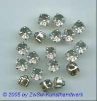 Knopffassung mit kristall-Stein 1 Stück, Ø 7 mm