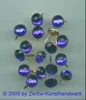 Strass/Splintfassung 1 Stück, Ø 9mm  (dunkelblau)