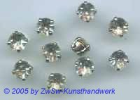 Schmucksteine gefasst 1 Stück, Ø 6,5 mm (kristall)