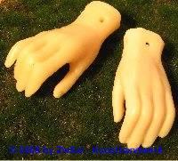 Ersatzteil Hände, Größe 10 haut
