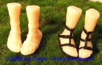 Ersatzteil Füße bemalt, Größe 4