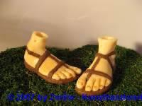 Ersatzteil Füße (mit Sandalen), Größe 10