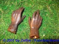 Ersatzteil Hände, Größe 9 haut
