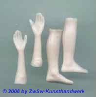 Ersatzteil Hände, Größe 5 haut