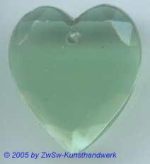 1 Glasherz 18mm x 16mm (grün/durchscheinend)
