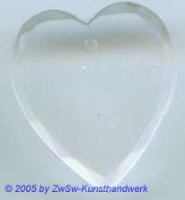 1 Glasherz 18mm x 16mm (kristall)