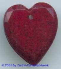 1 Glasherz 18mm x 16mm (rot/marmoriert)