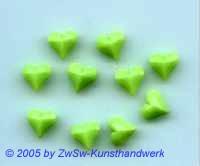 1 Herz 9mm x 8mm hellgrün