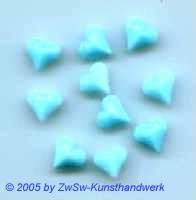1 Herz 9mm x 8mm hellblau