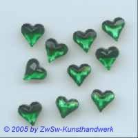 1 Herz 9mm x 8mm smaragd