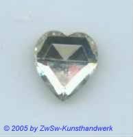 Strassherz kristall 1 Stück, 15mm x 14mm