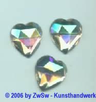 1 Strassherz 12mm x 12mm kristall/AB