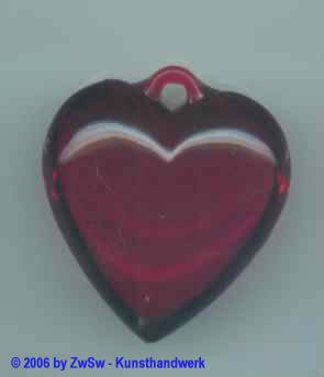 Herz aus Acrylglas 40mm x 40mm blutrot