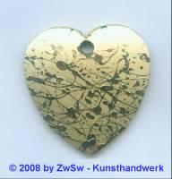 Herz gold 5 cm