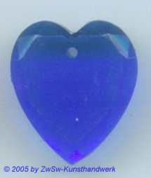 1 Glasherz 18mm x 16mm (dunkelblau)