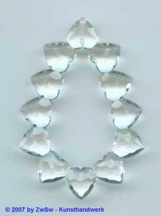 Herzentropfen kristall 1 Stück