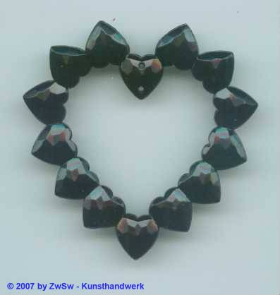 Herzen herzform schwarz