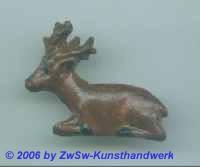 großer Hirsch; ca. 5cm x 4cm