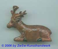kleiner Hirsch; ca. 4cm x 3cm