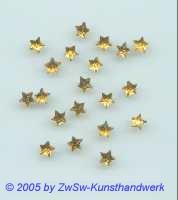 Strass/Sternchenform, Ø 5mm (gelb), 1 Stück