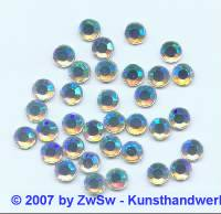 Strass/HOT FIX, kristall/AB, 1 Stück SS 6 (2mm)