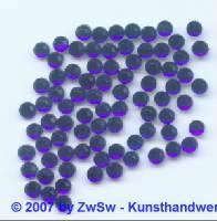 Strass/HOT FIX, dunkelblau, 1 Stück SS 6 (2mm)