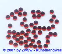 Strass/HOT FIX, hellrot, 1 Stück SS 6 (2mm)